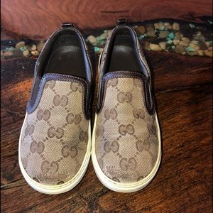 Gucci (Authentic) monogram sneakers.